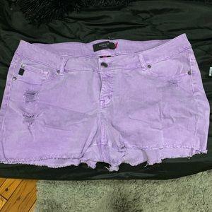 Torrid purple cut off shirts distressed sz 22